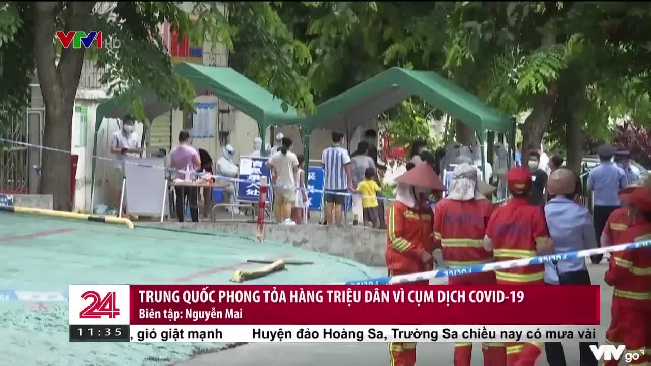 Trung Quốc phong tỏa hàng triệu dân vì cụm dịch COVID-19   Chuyển động 24h